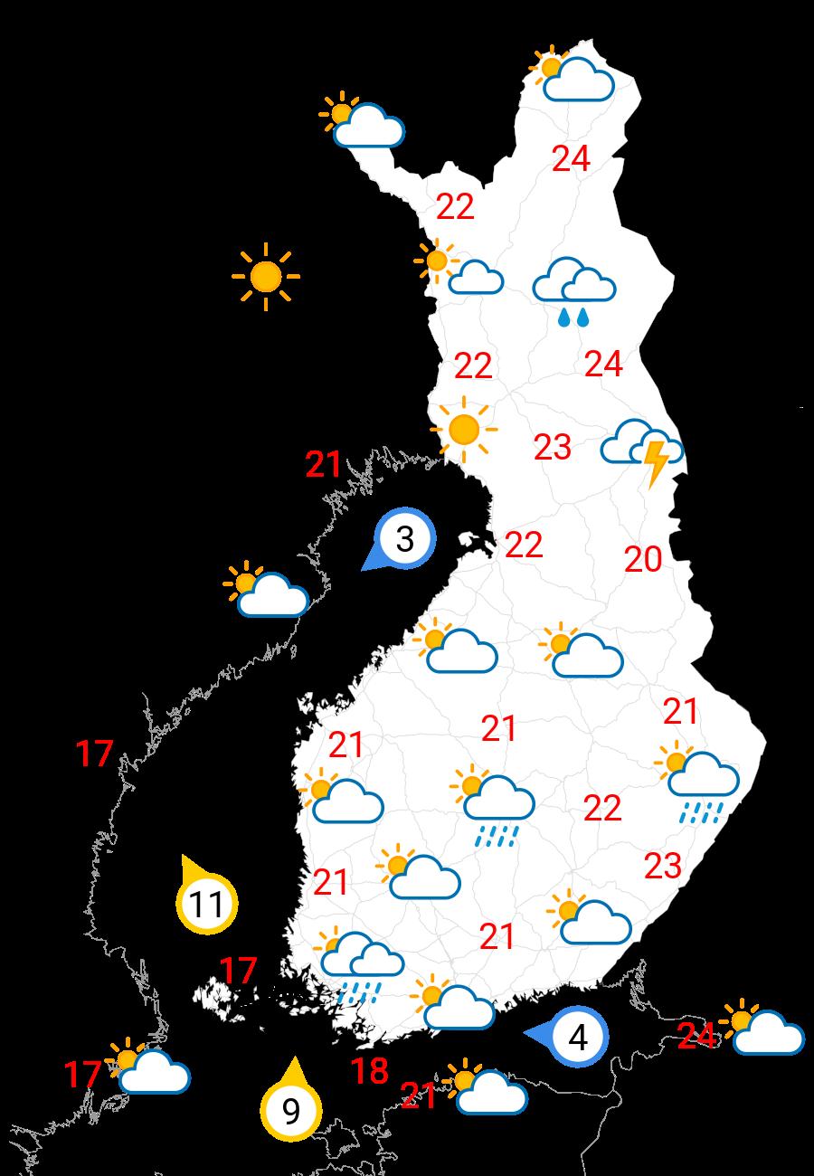 Vädret i morgon